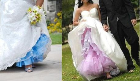 Loving colored crinoline!!! :  wedding Dyed Crinoline Wedding Slip1 dyed-crinoline-wedding-slip1