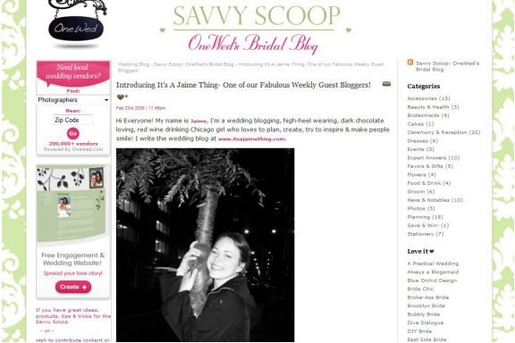 onewed-savvy-scoop-introduction-to-guest-blogger-itsajaimething-dotcom