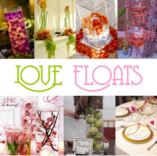 Surroundings - Floating candle centerpieces