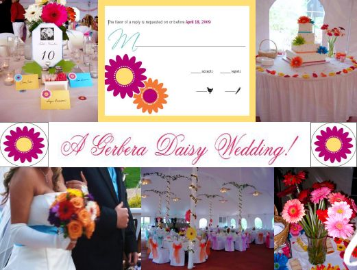 a gerbera daisy wedding by its a jaime thing dotcom