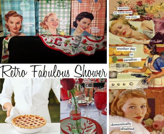 retro fabulous bridal shower board created by its a jaime thing dotcom 2