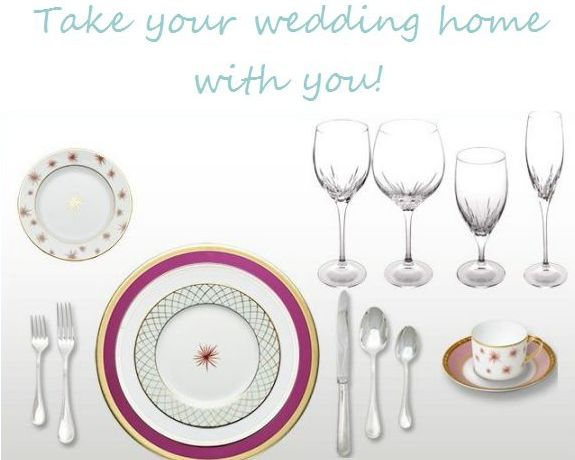 take your wedding home with you place setting idea via its a jaime thing dot com