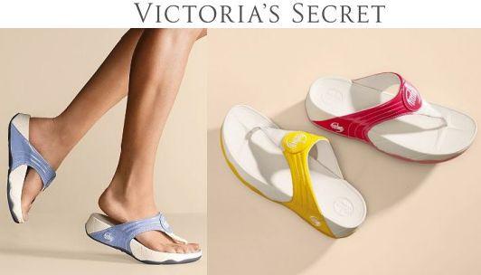 Victorias Secret Patent Walkstar III flip flops 59 95
