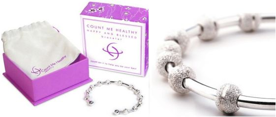 count me healthy jewelry bracelet unique bridesmaid gift idea