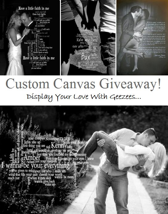 Geezees custom canvas art makes a great gift for weddings or any special occasion!