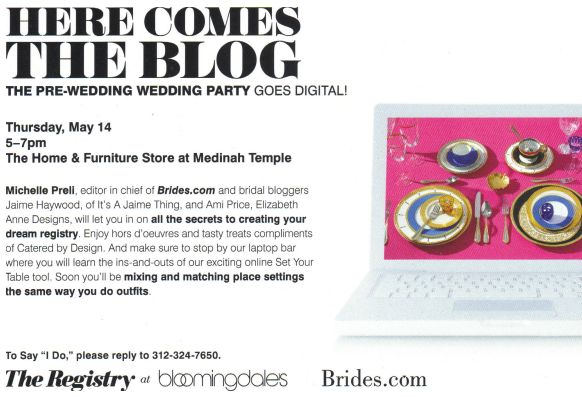 here comes the blog brides and bloomingdales chicago registry event 2009