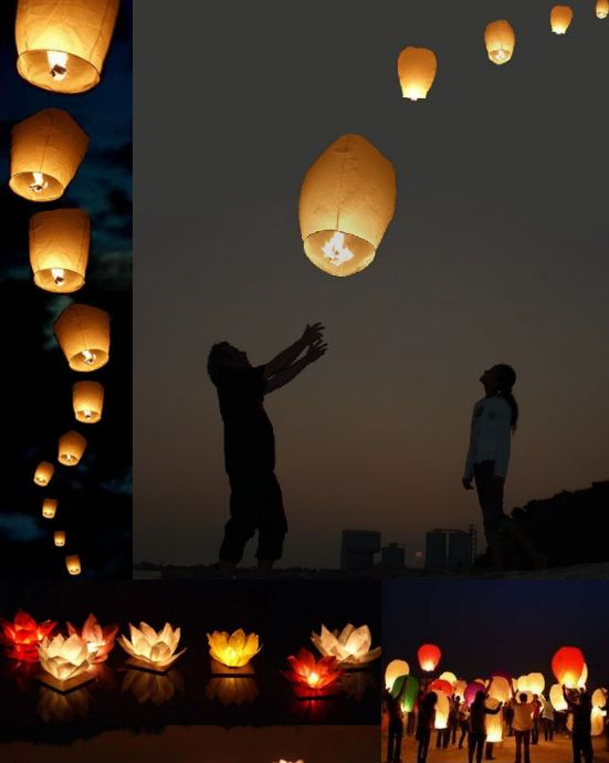 colorful wedding sky lanterns wedding ceremony ideas colorful wedding
