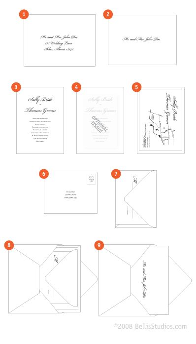 crane assembling wedding invitations. what information on a, Wedding invitations